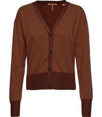 classic cardigan stickad tröja cardigan brun scotch & soda