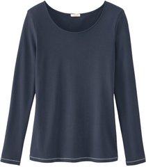 shirt met lange mouw, nachtblauw 46