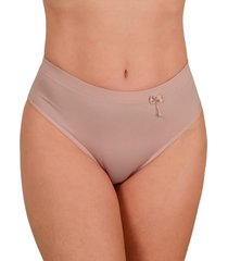 calcinha cintura alta vip lingerie elástico barra 25 bege