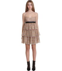 red valentino dress in orange tech/synthetic