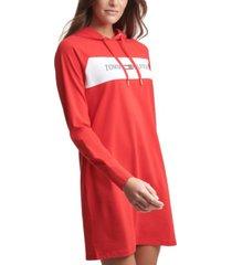 tommy hilfiger sport logo hoodie dress