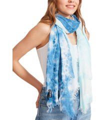steve madden two-tone tie-dyed scarf