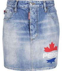 dsquared2 light blue denim skirt
