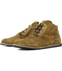 zapato casual cuero dingo suede verde bestias