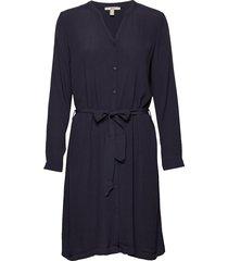 dresses light woven knälång klänning blå esprit casual
