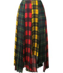 monse plaid colour-block pleated skirt - multicolour