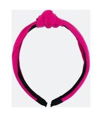 tiara larga em linho com nó | accessories | rosa | u