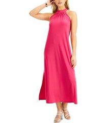 bar iii halter maxi dress, created for macy's