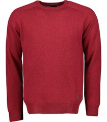 jac hensen pullover - modern fit - rood