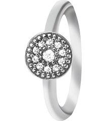 anello in argento 925 rodiato e zirconi per donna