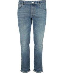 brunello cucinelli comfort denim slim fit five-pocket trousers