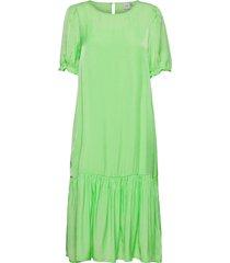 ihedina dr knälång klänning grön ichi