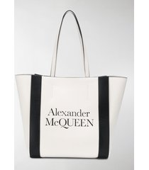 alexander mcqueen signature shopper tote bag