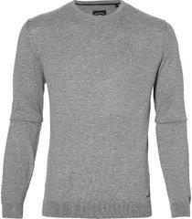 sale - lerros pullover - modern fit - grijs