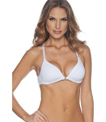 brasier triangular realce natural blanco con puntos st even