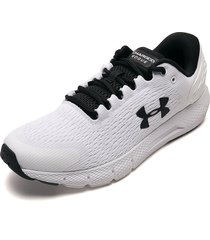 tenis running blanco-negro under armour charged rogue 2