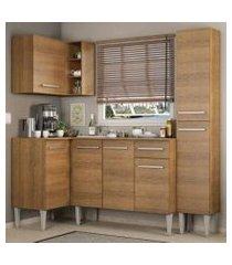 cozinha completa de canto madesa emilly song com armário, balcão e adega rustic