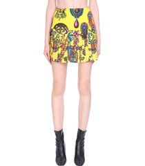 versace jeans couture skirt in yellow cotton