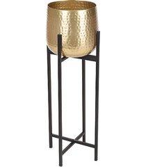 kwietnik metalowy osłonka leo złota 74 cm