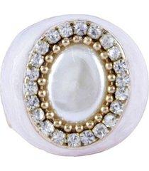duplicado - anel armazem rr bijoux cristais cravejados dourado