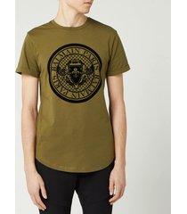 balmain men's coin t-shirt - khaki - xl
