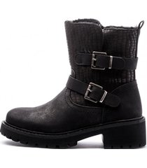 botin cloe black mermaid chancleta