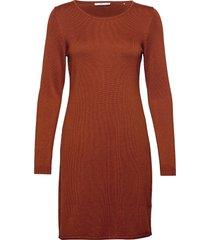 dresses flat knitted kort klänning orange edc by esprit