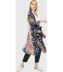 kimono  azul-multicolor paris district
