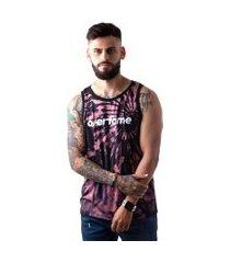 camiseta regata masculina overfame tie dye terroso md37