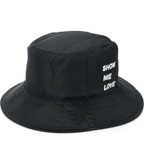 honey fucking dijon show me love bucket hat - black