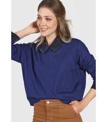 sweater azul ted bodin lurex