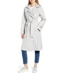 women's bernardo hooded water resistant trench coat