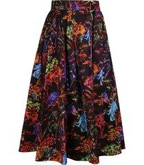 msgm multicolor cotton skirt
