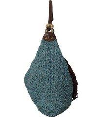 bolsa sacola trico tifany laura prado feminina - feminino