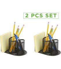 mind reader 2 pc mesh pencil cup desk organizer