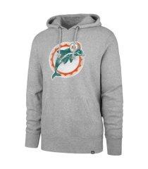 '47 brand miami dolphins men's throwback headline hoodie