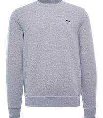 lacoste sport cotton blend fleece sweatshirt | marine | sh1505-9ya