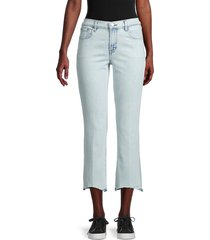 j brand women's selena mid-rise cropped bootcut jeans - outcast - size 23 (00)