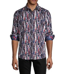 robert graham men's classic-fit cotton shirt - size s