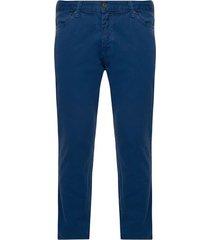 pantalón hombre de dril 5 bolsillos azul petroleo color azul, talla 30