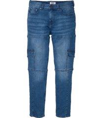 jeans elasticizzati cargo slim fit straight (blu) - john baner jeanswear