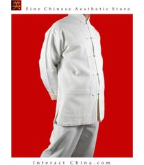 fine linen white kung fu martial arts tai chi uniform suit xs-xl or tailor made