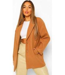 petite nepwollen jas, camel