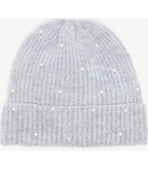 women's pearl beanie hat light grey one size from sole society