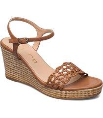 lobi_21_na sandalette med klack espadrilles brun unisa