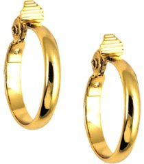 "anne klein gold-tone 1 3/4"" medium width hoop e-z comfort earrings"
