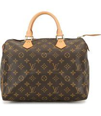 louis vuitton 2004 pre-owned monogram speedy 30 travel bag - brown