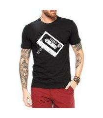 camiseta criativa urbana toca fita