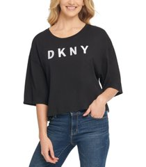 dkny elbow-sleeve t-shirt