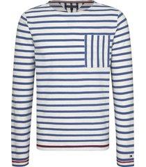buzo blanco tommy hilfiger breton stripe longsleeve